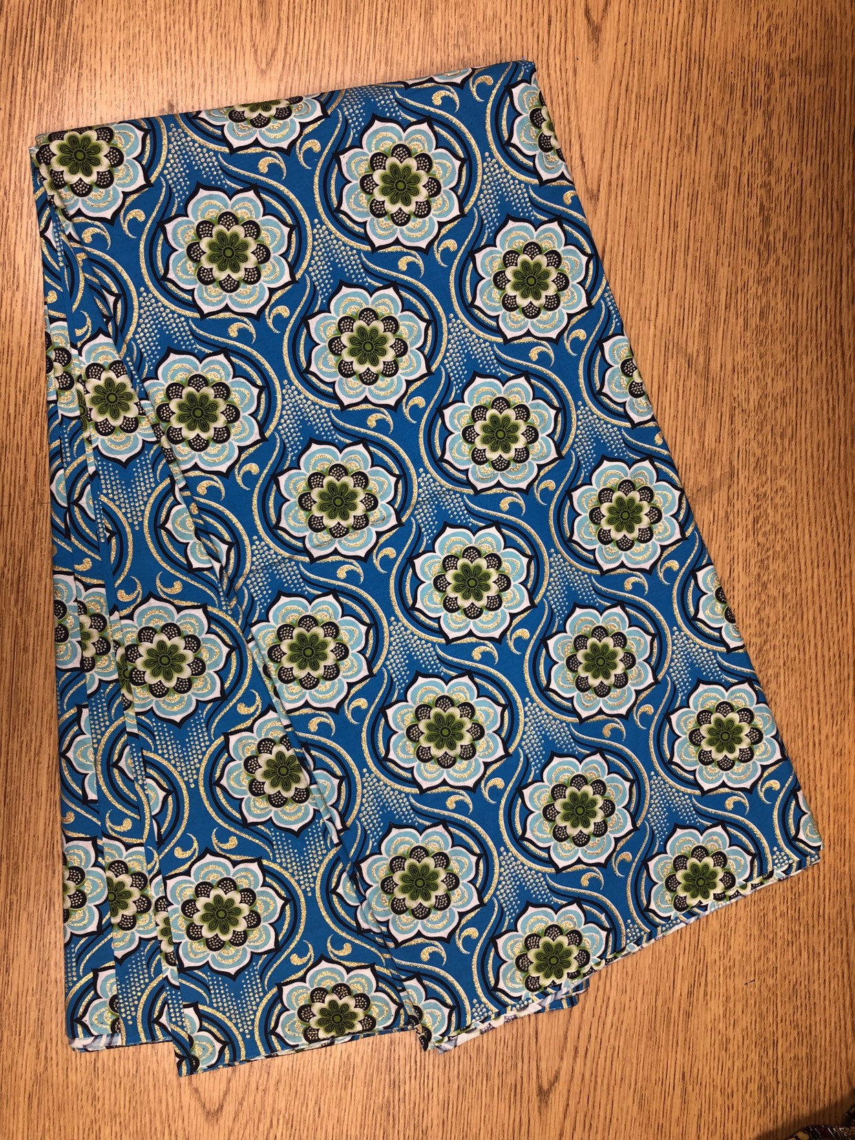 African Print Apron Flowers